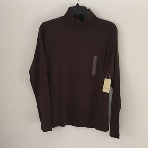 2 NWT/1 NWOT Brown Mock Turtleneck, 100% Cotton